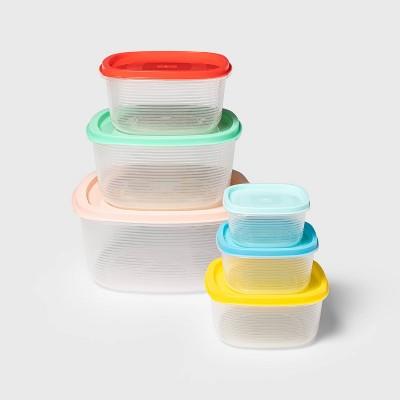 6pc Plastic Food Storage Container Set - Sun Squad™