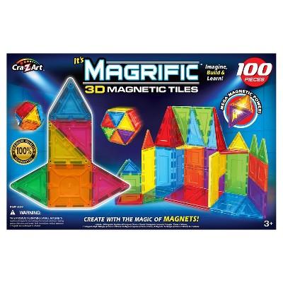 Magrific 100 piece Magnetic Tiles