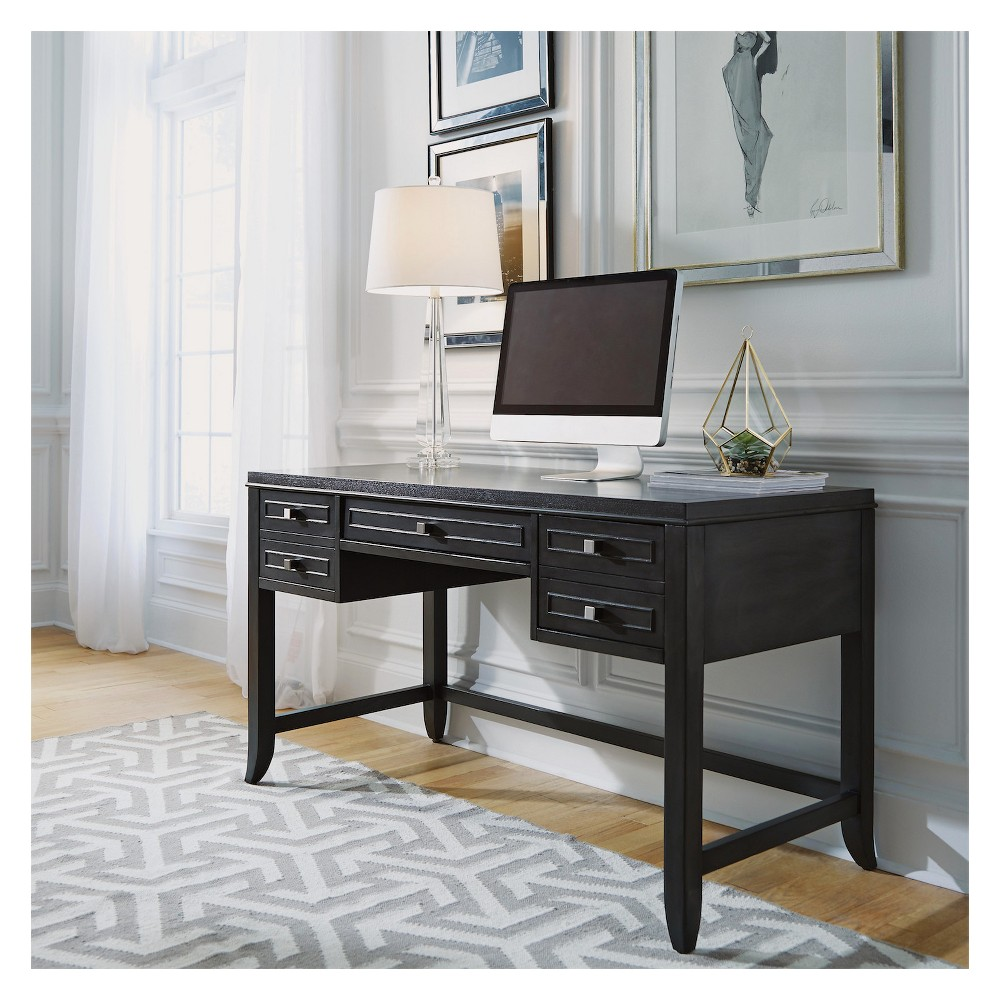 Image of 5Th Avenue Executive Writing Desk - Grey Sable - Home Styles, Gray