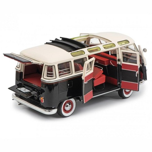 1959-1963 volkswagen t1 samba bus black and white limited edition to