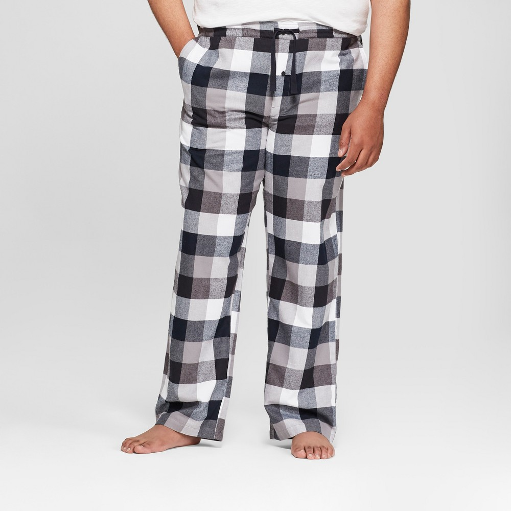 Men's Big & Tall Lounge Flannel Pajama Pants - Goodfellow & Co Black 5XBT