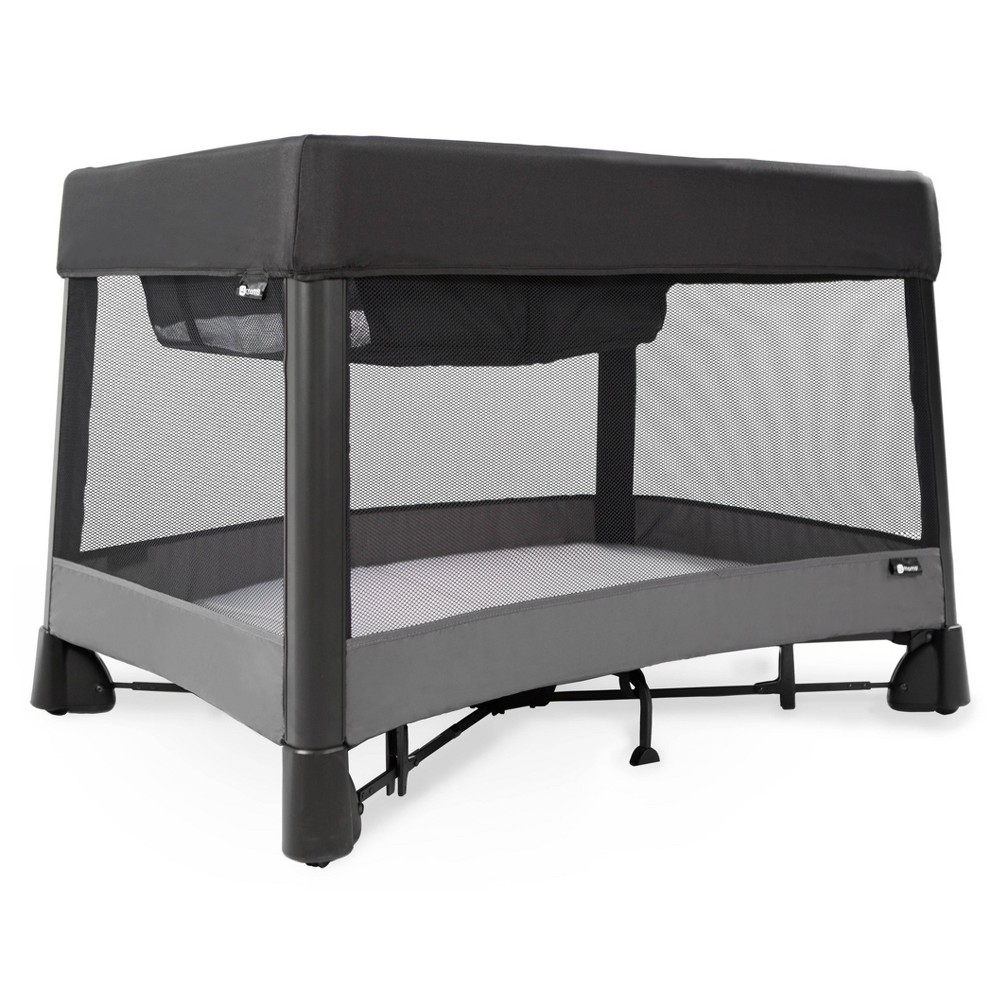Image of 4moms breeze plus One-Handed Set-Up Playard with a Removable Bassinet and Changer - Black