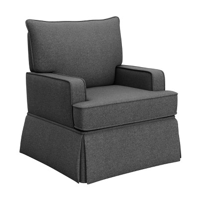 Storkcraft Davenport Upholstered Swivel Glider - Shadow