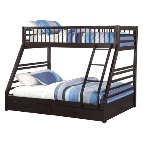 Jason Kids Bunk Bed Espresso Twin Queen Acme