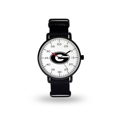 NCAA Georgia Bulldogs Men's Analog Watch - Black