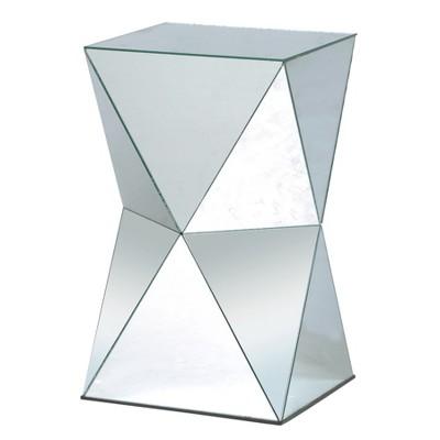Mirrored Pedestal Table Silver - Stylecraft