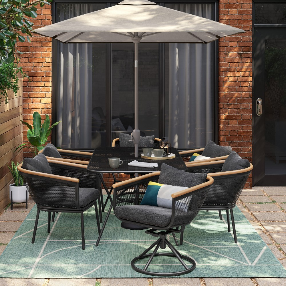 Bangor 7pc Patio Dining Set Charcoal - Project 62