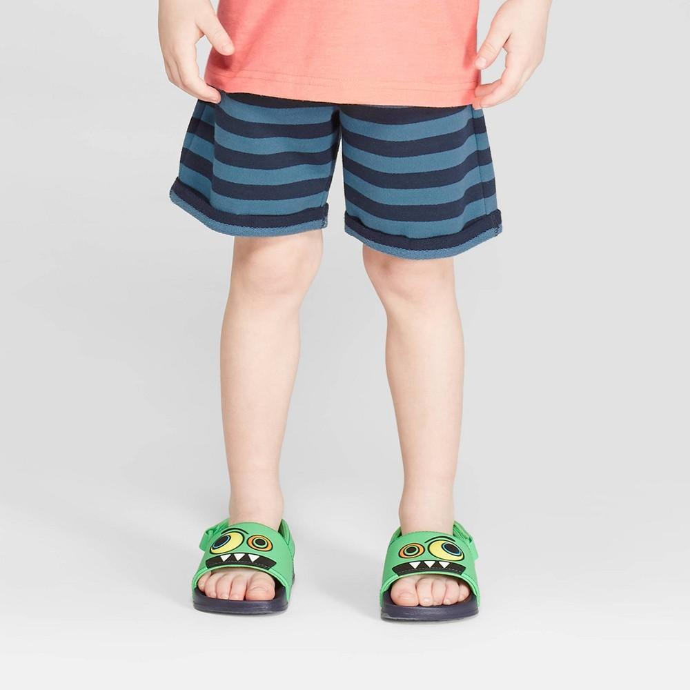 Toddler Boys' Stripe Pull-On Shorts - Cat & Jack Blue 18M