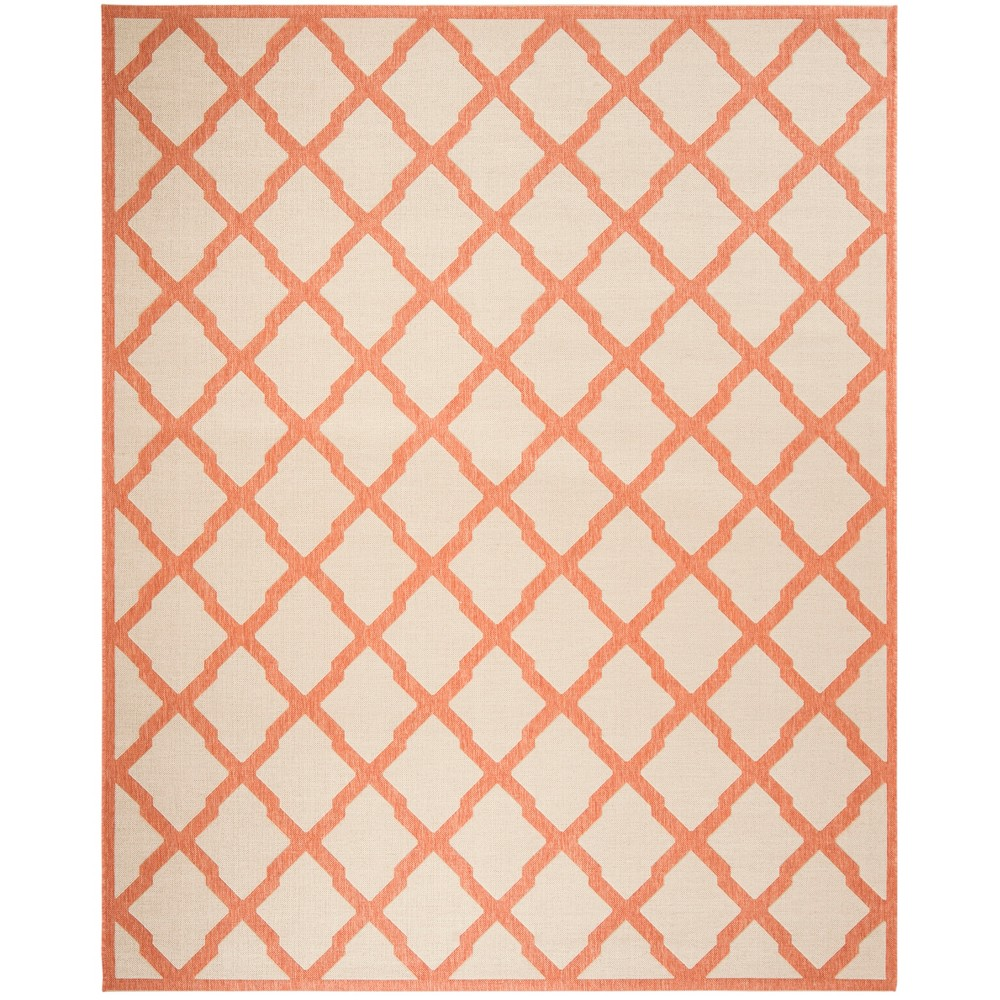 8 X10 Geometric Loomed Area Rug Cream Rust Safavieh