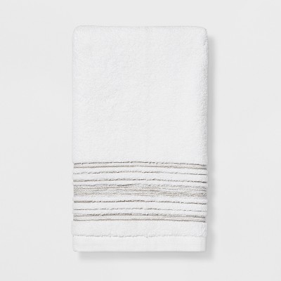 Accent Stripe Gray Hand Towel White - Threshold™