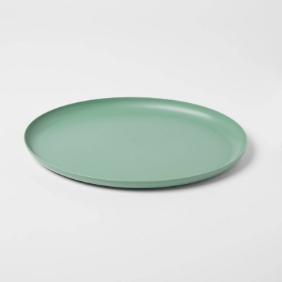 "12"" x 15"" Plastic Oval Serving Platter Green - Room Essentials™"