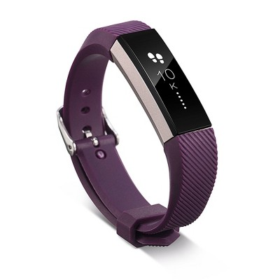 Zodaca Wristband w/Metal Buckle Clasp compatible with Fitbit Alta/Alta HR Replacement Band, Purple