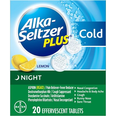 Digestion & Nausea: Alka-Seltzer Plus Cold Night