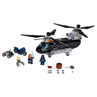 LEGO Marvel Avengers Black Widow's Helicopter Chase Playset with 3 Minifigures 76162
