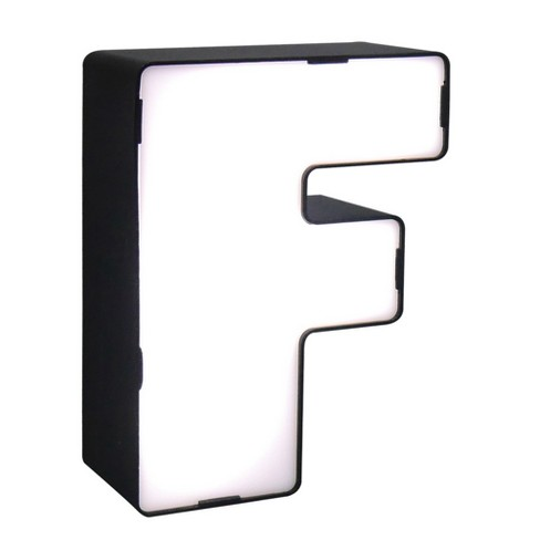 LED Neon Letter - F Novelty Table Lamp Brass - Room Essentials™ - image 1 of 1