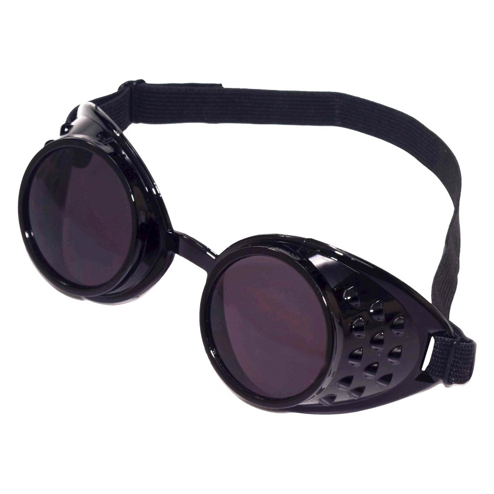 Image of Adult Steampunk Black Goggles, Men's