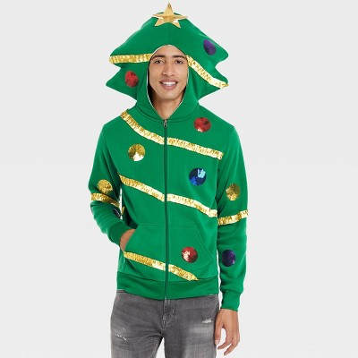 Men's Christmas Tree Sweatshirt - Green
