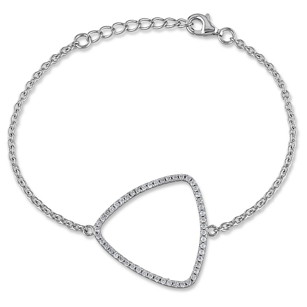 """Image of """"1.02 CT. T.W. Cubic Zirconia Geometric Bracelet in Sterling Silver - 7"""""""" - White, Women's"""""""