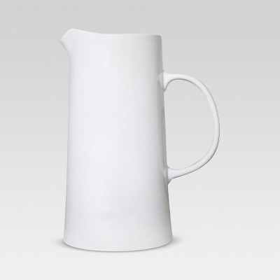 64oz Porcelain Beverage Pitcher White - Threshold™