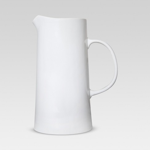 Large Pitcher 8-Cup Porcelain White - Threshold™ - image 1 of 4