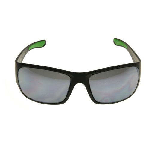 4e01d699c9 Men s Ironman Impact Resistant Wrap Sunglasses - Black   Target