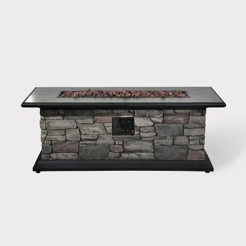 Greystone Rectangle Fire Table - Dark Gray - Bond - image 1 of 2