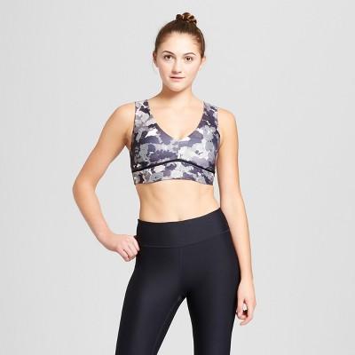 04479cb0b1e24 Womens V-Neck Camo Print Sports Bra – JoyLab™ Black White S – Target ...