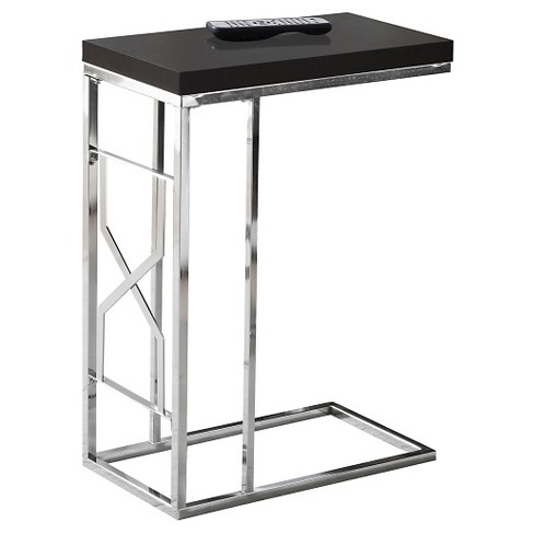 Accent Table, Chrome Metal - Cappuccino - EveryRoom - image 1 of 2