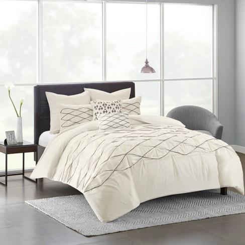 100 Cotton Solid Pieced Duvet Cover Set 7pcs Target