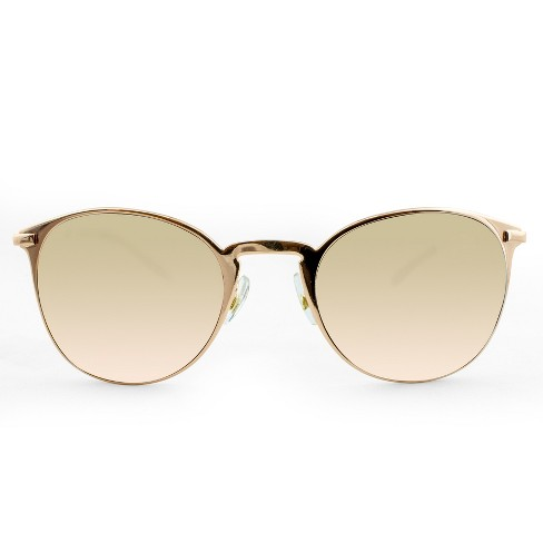 Women's Metal Clubmaster Sunglasses with Rose Gold Lens - A New Day™ Rich Gold - image 1 of 3