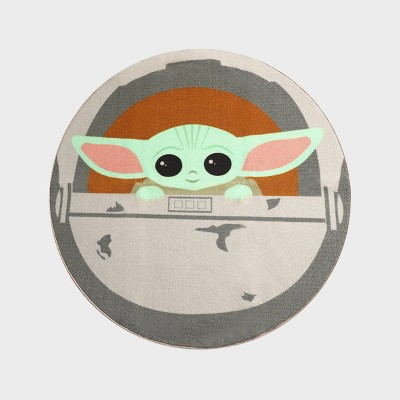 "52"" Star Wars: The Mandalorian The Child Round Rug Green"