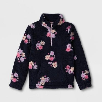 Girls' Printed Sherpa Pullover Sweatshirt - Cat & Jack™