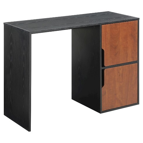 Designs2Go Student Desk with Storage Cabinets Black - Convenience Concepts - image 1 of 3