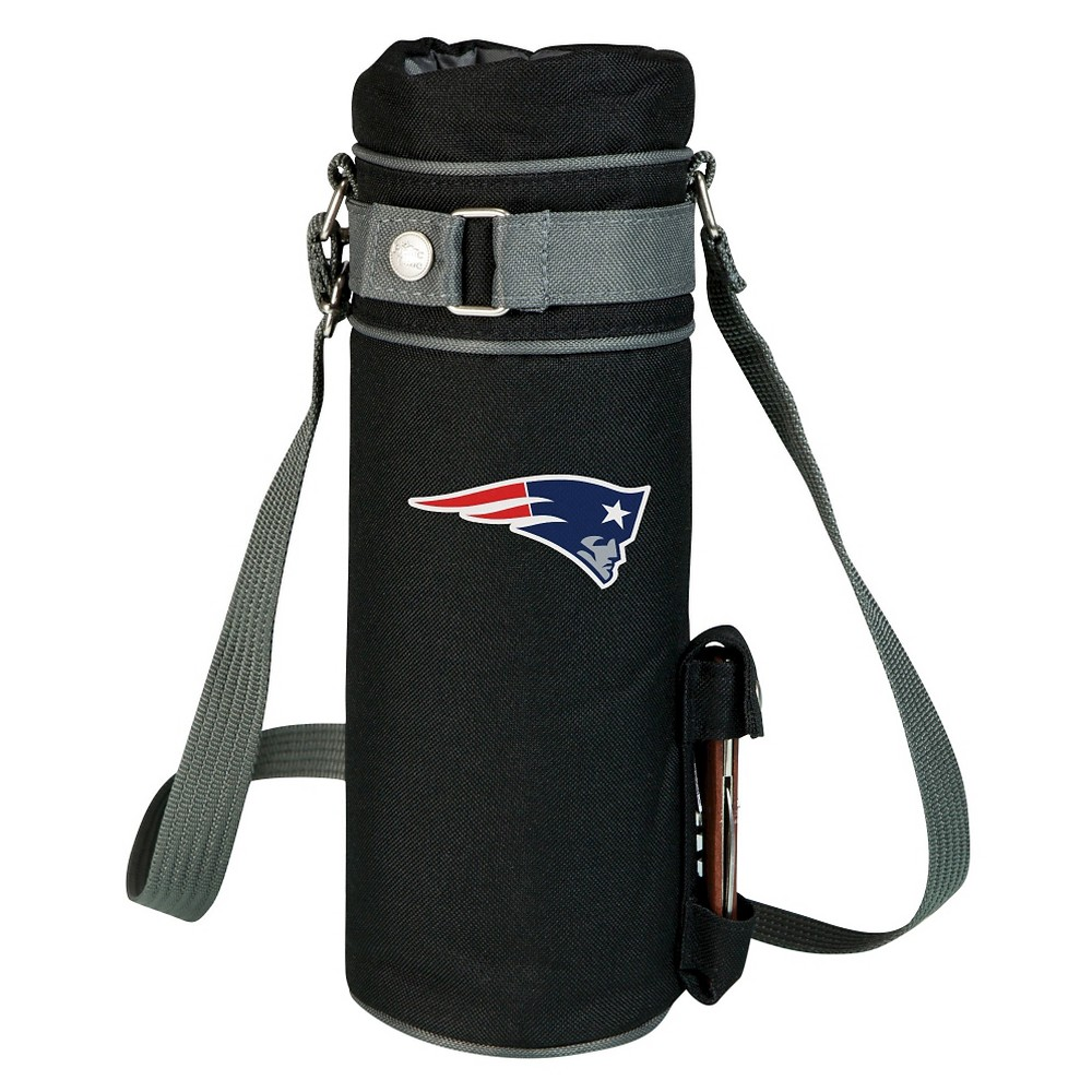 New England Patriots - Wine Sack Beverage Tote by Picnic Time (Black)