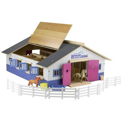 Breyer Animal Creations Breyer Farms Deluxe Wood Stable Playset