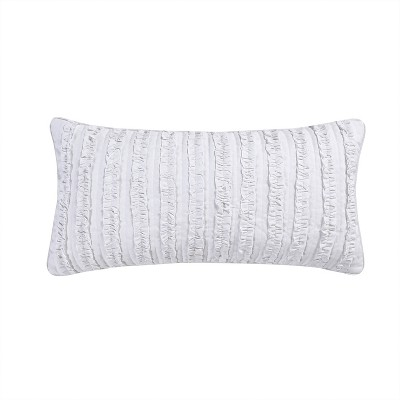 Rachelle Ruffle Decorative Throw Pillow White - Homthreads