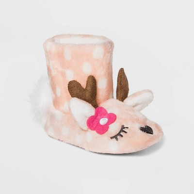 Baby Girls' Slipper Boots - Cat & Jack™ Pink 12-24M