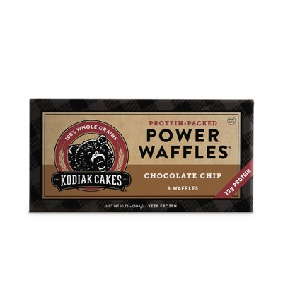 Kodiak Cakes Frozen Power Waffles Chocolate Chip - 10.72oz/8ct