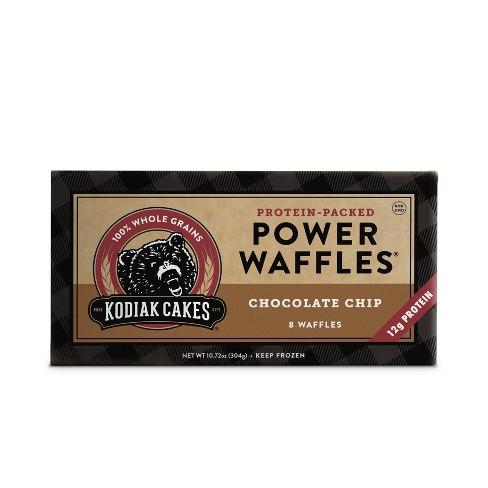 Kodiak Cakes Frozen Power Waffles Chocolate Chip - 10.72oz/8ct - image 1 of 4