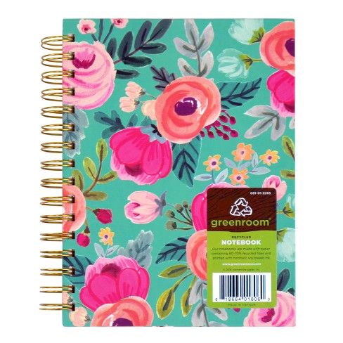 "Lined Floral Journal 8.5"" x 7"" - greenroom - image 1 of 1"