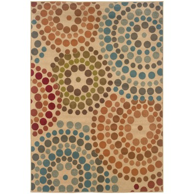 Erica Concentric Dot Rug Gold/Blue
