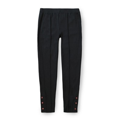 Hope & Henry Womens' Button Cuff Ponte Legging Pant