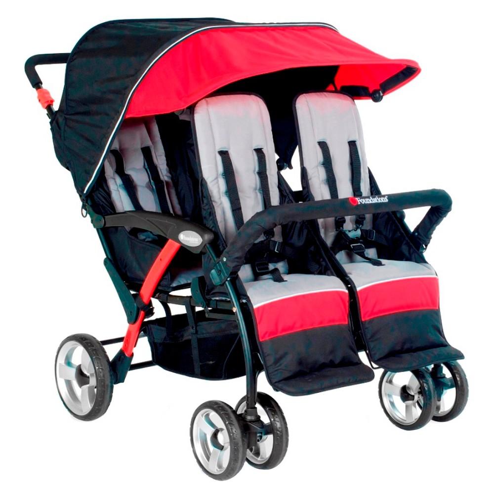 Image of Foundations Quad Sport 4 Passenger Stroller - Red
