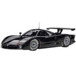 "Nissan R390 GT1 Le Mans (1998) Gloss Black ""Signature Series"" 1/18 Diecast Model Car by Autoart"