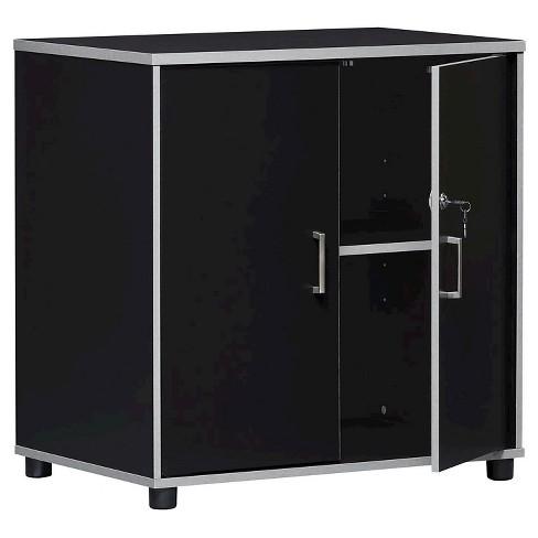 2 Door Base Cabinet Black - Room & Joy - image 1 of 4