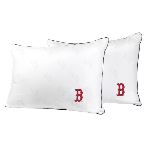 MLB Boston Red Sox White Embroidered Bed Pillow 2pk - image 1 of 1