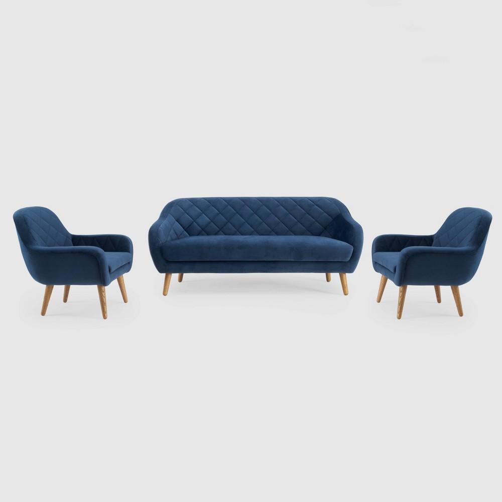 Image of 3Pc Isobel Seating Set Cobalt Blue - RST Brands, Blue Blue