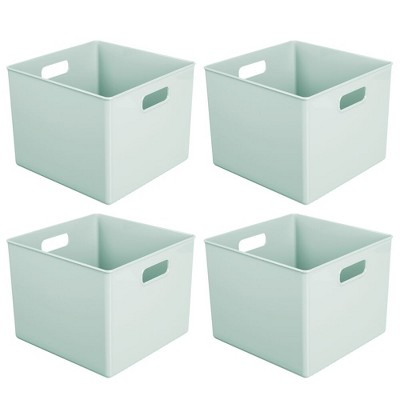 "mDesign Storage Organizer for Cube Furniture Units, 10"" Square, 4 Pack"