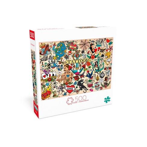 Buffalo Games Art of Play: Tattoopalooza Puzzle 500pc - image 1 of 2