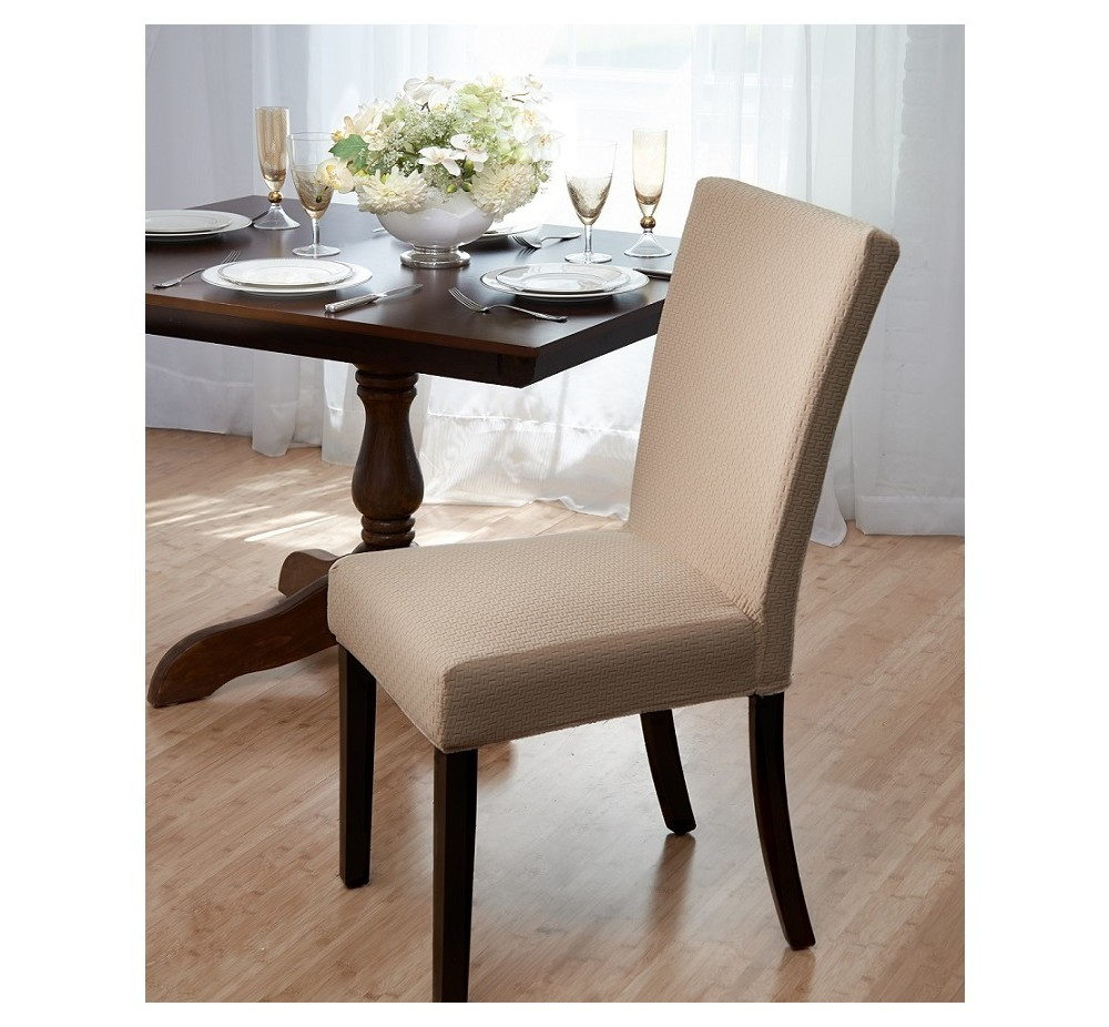 Madsion Beige Subway Dining Room Chair Cover - Madison